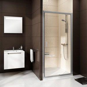 Ravak Blix BLDP2 100 zuhanykabiajtó szatén+transparent