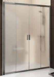 Ravak Blix BLDP4 130 négyrészes zuhanyajtó szatén+transparent