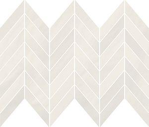 CersanitMARKURIA WHITE CHEVRON MOSAIC MATT 29,8X25,5