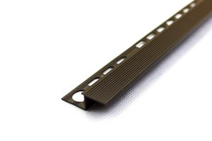 Salag alumínium lépcsőprofil barázdált 10mm/2,50 m eloxált bronz színben