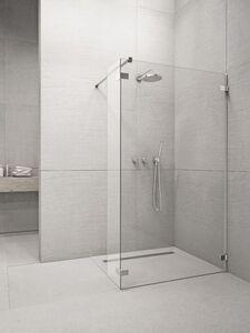 Radaway Euphoria Walk-in W3 100 II zuhanyfal átlátszó üveggel