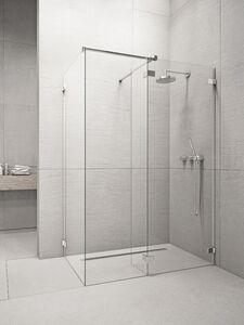 Radaway Euphoria Walk-in W3 130 III zuhanyfal átlátszó üveggel