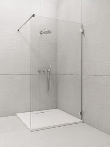 Radaway Euphoria Walk-in W1 140 V zuhanyfal átlátszó üveggel