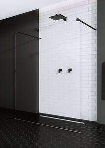 Radaway Modo New Black I 130 Walk-in fekete zuhanyfal átlátszó üveggel