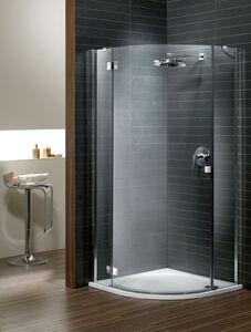 Radaway Almatea PDJ jobb íves zuhanykabin átlátszó üveges