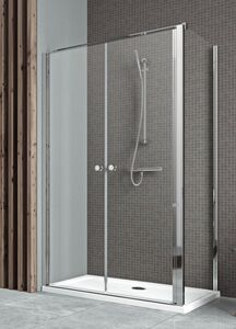 Radaway Eos II DWD+S DWD 90 szögletes zuhanykabin nyílóajtó átlátszó üveges