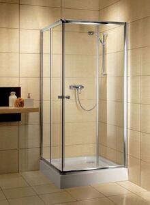Radaway Classic C szögletes 80x80 zuhanykabin fehér profil, átlátszó üveges