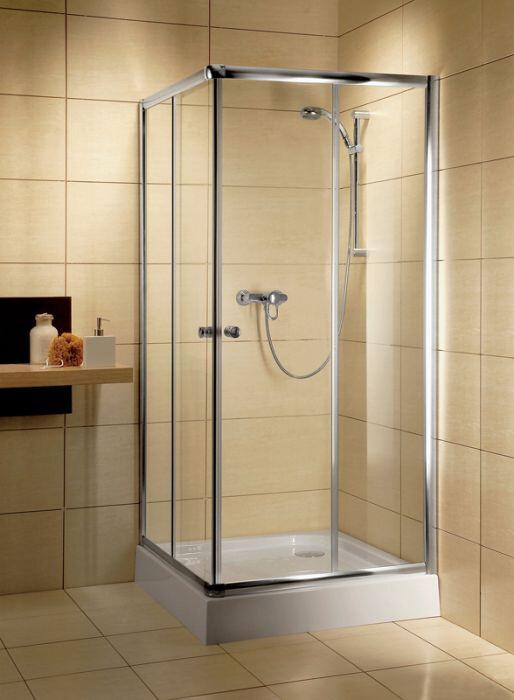 Radaway Classic C szögletes 90x90 zuhanykabin króm profil, átlátszó üveges