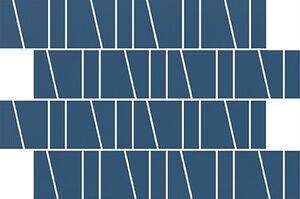 Cersanit Zambezi Blue Trapeze Mozaik 20x29,9