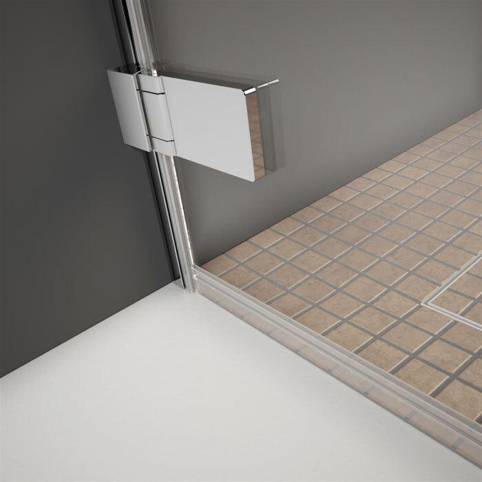 Radaway Arta S DWD+S/2S 55 J szögletes zuhanykabin ajtó sarok zsanérral, átlátszó üveges