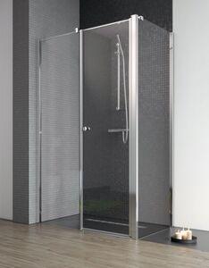 Radaway Eos II KDS 90 B szögletes aszimmetrikus zuhanykabin nyílóajtó, átlátszó üveges