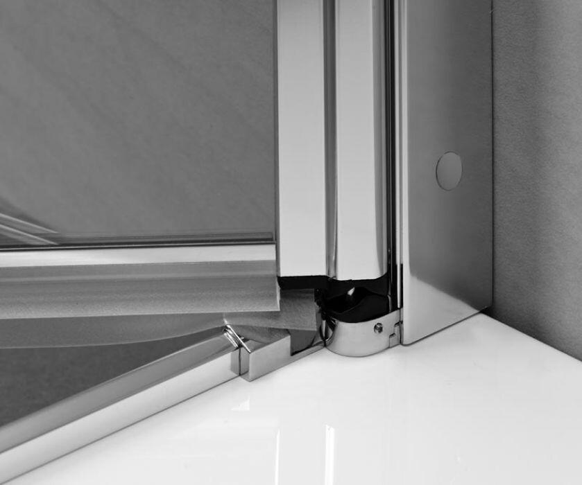 Radaway Eos II KDD 80 Bal szögletes aszimmetrikus zuhanykabin átlátszó üveges