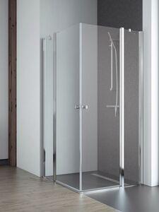 Radaway Eos II KDD 80 Jobb szögletes aszimmetrikus zuhanykabin átlátszó üveges