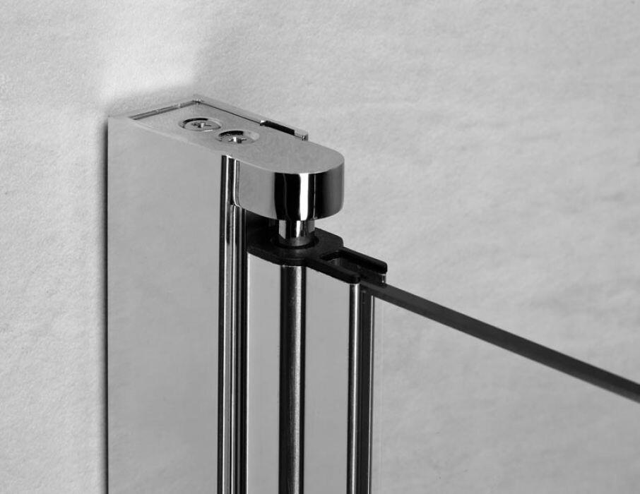 Radaway Eos II DWD+S 90 szögletes aszimmetrikus zuhanykabin nyílóajtó, átlátszó üveges
