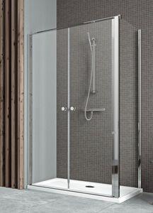 Radaway Eos II DWD+S 120 szögletes aszimmetrikus zuhanykabin nyílóajtó, átlátszó üveges
