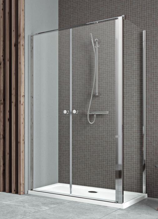 Radaway Eos II DWD+S S1 75 B szögletes aszimmetrikus zuhanykabin oldalfal, átlátszó üveges