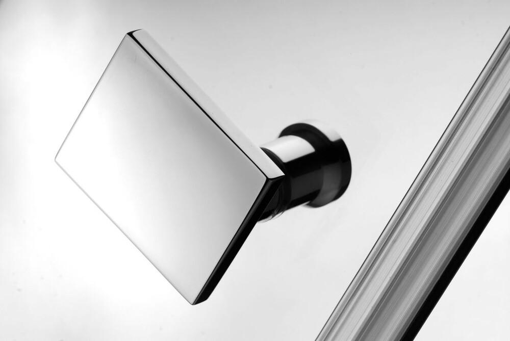 Radaway Almatea KDD 80B×80J szögletes aszimmetrikus zuhanykabin átlátszó üveges