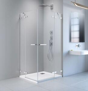 Radaway Arta KDD II 80 B szögletes aszimmetrikus zuhanykabin átlátszó üveges