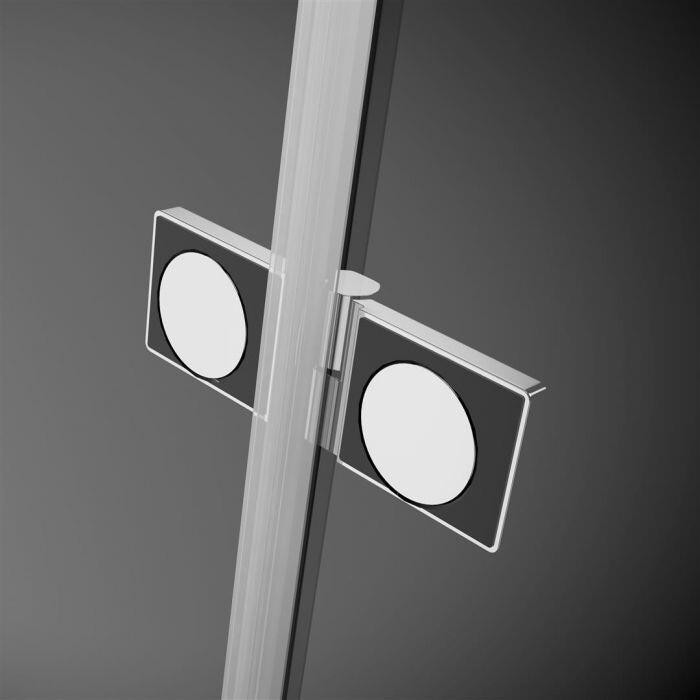 Radaway Arta KDJ II 80 J szögletes aszimmetrikus zuhanykabin átlátszó üveges