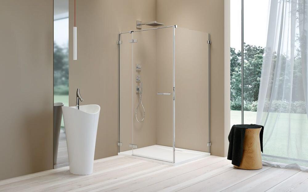 Radaway Arta KDJ II 100 J szögletes aszimmetrikus zuhanykabin átlátszó üveges