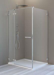 Radaway Arta KDJ II 130 B szögletes aszimmetrikus zuhanykabin átlátszó üveges