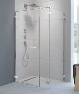 Radaway Arta KDS I 130 B szögletes aszimmetrikus zuhanykabin átlátszó üveges