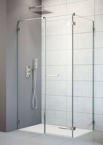 Radaway Arta KDS II 100 J szögletes aszimmetrikus zuhanykabin ajtó, átlátszó üveges