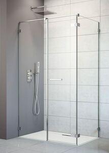 Radaway Arta KDS II 130 J szögletes aszimmetrikus zuhanykabin ajtó, átlátszó üveges