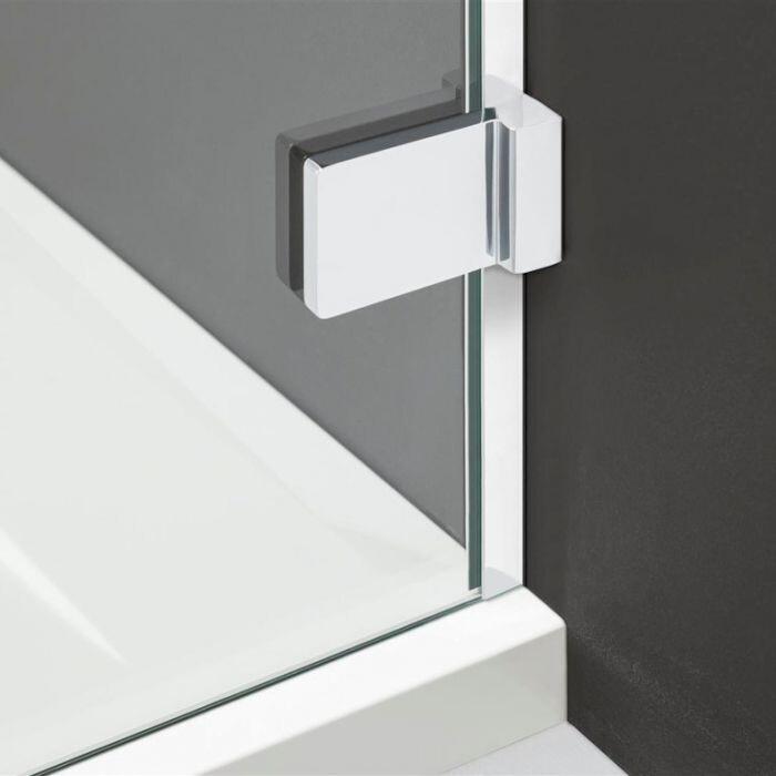 Radaway Arta KDS II 140 B szögletes aszimmetrikus zuhanykabin ajtó, átlátszó üveges