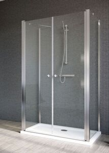 Radaway EOS II DWD+2S S1 75/B szögletes aszimmetrikus zuhanykabin oldalfal, átlátszó üveges