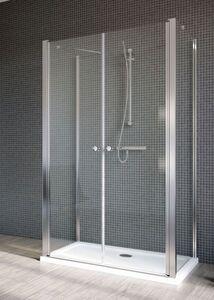 Radaway EOS II DWD+2S S1 100/B szögletes aszimmetrikus zuhanykabin oldalfal, átlátszó üveges