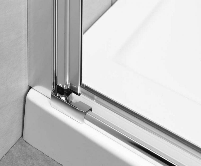 Radaway EOS II KDJ Ajtó 80/J szögletes aszimmetrikus zuhanykabin átlátszó üveges
