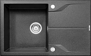 Deante Andante 1 medencés mosogató csepegtető tálcával-GRAFIT ZQN 2113