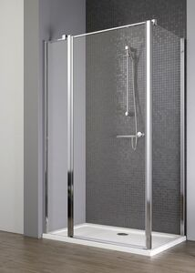 Radaway EOS II KDJ S2 100/B szögletes aszimmetrikus zuhanykabin oldalfal, átlátszó üveges