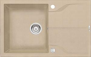 Deante Andante 1 medencés mosogató csepegtető tálcával-HOMOK ZQN 7113