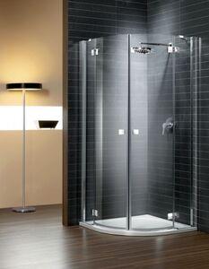 Radaway Almatea PDD E 90x80 íves aszimmetrikus zuhanykabin átlátszó üveges