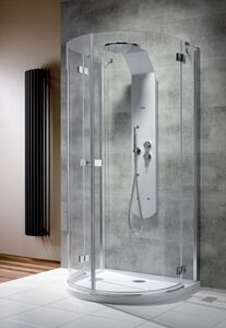 Radaway Almatea P íves zuhanykabin átlátszó üveges