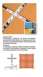 Fugakereszt 4mm/5mm 50db/csomag
