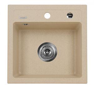 Deante Zorba 1 medencés mosogató csepegtető nélkül-HOMOK ZQZ 7103