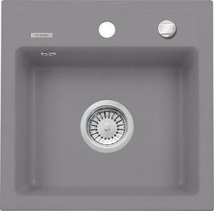 Deante Zorba 1 medencés mosogató csepegtető nélkül-FÉMSZÜRKE ZQZ S103