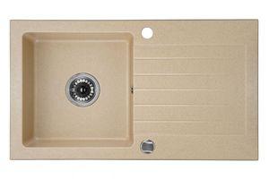 Deante Zorba 1 medencés mosogató csepegtető tálcával-HOMOK ZQZ 7113