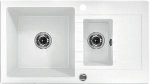 Deante Zorba 1,5 medencés mosogató rövid csepegtetővel-ALABÁSTROM ZQZ A513