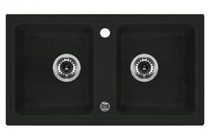 Deante Zorba 2 medencés mosogató csepegtető nélkül-GRAFIT ZQZ 2203