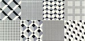 Arte Karelia d-karelia patchwork black dekorcsempe 22,3x44,8