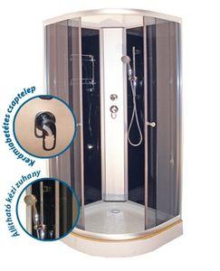 Aqualife Opal 508C Hidromasszázs Zuhanykabin Tető nélkül 90×90