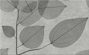 Cersanit Lussi Light Grey Inserto Leaf B Csempe 25X40