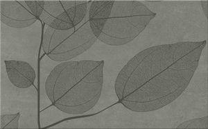 Cersanit Lussi  Grey Inserto Leaf B Csempe 25X40