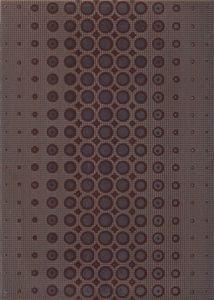Cersanit  Optica  Brown Inserto Modern  Dekorcsempe  25x35