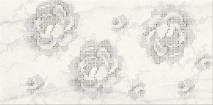 Cersanit Textile Flower White Inserto Flower Csempe  29.7x60