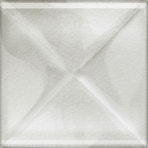 Cersanit Textile Flower Glass White Inserto New Dekorcsempe  9.9x9.9